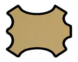 Demi peau de vachette coquille d'oeuf