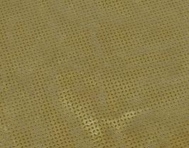 Morceau de cuir de vachette perforé doré