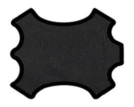 Peau d'agneau noir imprimé galuchat