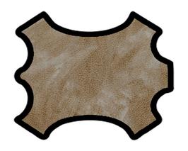 Peau de chèvre chagrin café au lait marbré