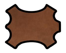 Demi peau de vachette grainée marron
