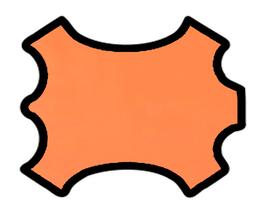 Demi peau de vachette mandarine
