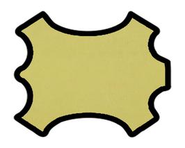 Peau d'agneau texturé jaune ananas