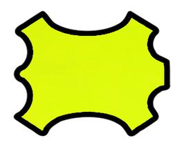 Peau d'agneau nappa jaune fluo