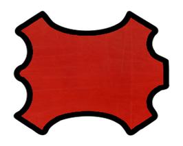 Peau d'agneau plongé rouge