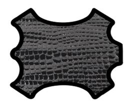 Peau de chèvre noir imprimé crocodile