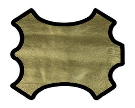 Peau d'agneau doré doublé tissu