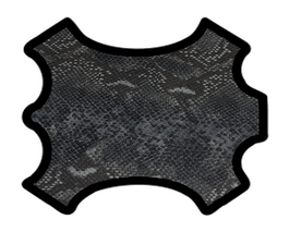 Peau de chèvre noir et gris imprimé python