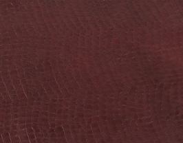 Morceau de cuir de vachette bordeaux imprimé crocodile