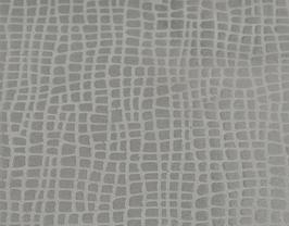 Coupon de cuir de vachette gris clair imprimé iguane