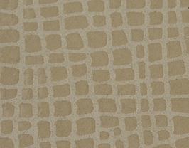 Coupon de cuir de vachette beige doré imprimé iguane