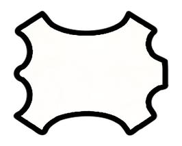 Demi peau de vachette blanche
