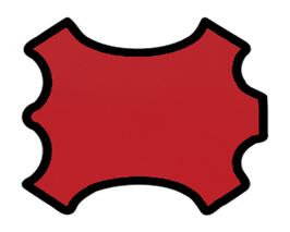 Peau d'agneau rouge