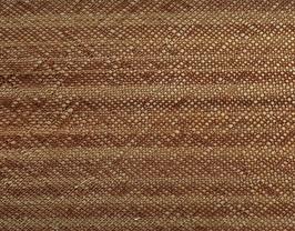 Coupon de cuir de vachette doré et cuivré imprimé rayé