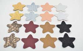 Lot n°1 de 16 étoiles en cuir