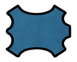 Demi peau de vachette turquoise foncé