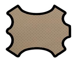 Demi peau de vachette perforée beige foncé