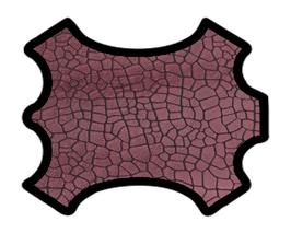 Peau de chèvre rose métallisé imprimé craquelé
