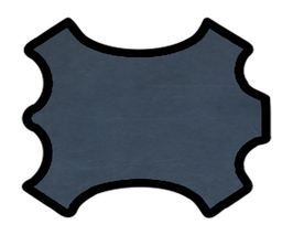 Peau de chèvre chagrin bleu nocturne