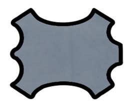 Peau d'agneau velours gris bleuté