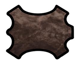 Peau d'agneau lainé brun fauve