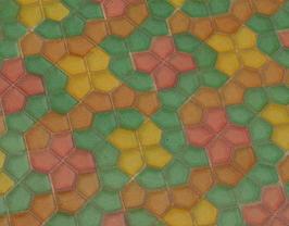 Coupon de cuir de vachette embossé multicolore pastel