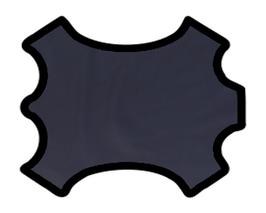 Demi peau de vachette bleu marine
