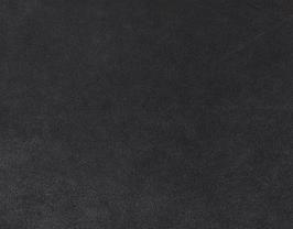 Morceau de cuir de vachette nubuck noir argenté