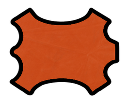 Demi peau de vachette nubuck mandarine