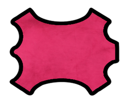 Peau de veau velours rose fuchsia