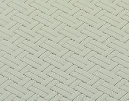Coupon de cuir de vachette blanc tressé