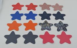 Lot n°2 de 16 étoiles en cuir