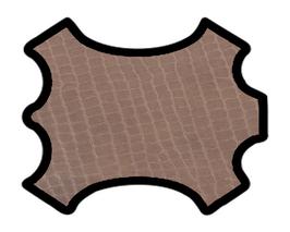 Peau d'agneau marron imprimé crocodile