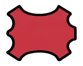 Demi peau de vachette rose foncé