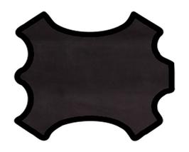Peau de veau noir reflets violacés