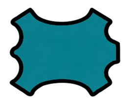 Peau d'agneau nappa bleu turquoise