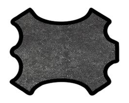 Peau d'agneau noir argenté imprimé poisson