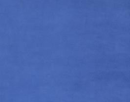 Morceau de cuir d'agneau velours bleu roi