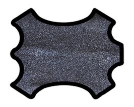 Peau d'agneau grainé bleu métallisé