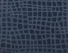 Coupon de cuir de vachette bleu marine imprimé iguane