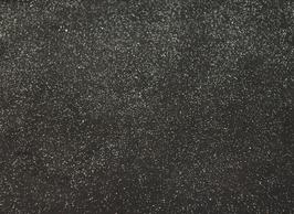 Coupon de cuir de veau nubuck noir pailleté
