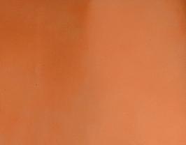 Coupon de cuir de vachette orange doré vernis