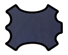 Peau de mouton nappa bleu marine