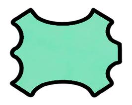 Peau d'agneau nappa vert menthe à l'eau