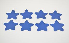 8 étoiles en cuir d'agneau bleu roi