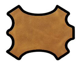 Demi peau de vachette tabac vintage