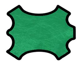 Peau d'agneau nappa vert métallisé