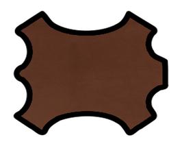 Peau de veau nappa chocolat