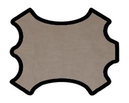 Demi peau de vachette nubuck mastic