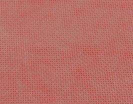 Morceau de cuir de vachette nubuck perforé rose saumoné